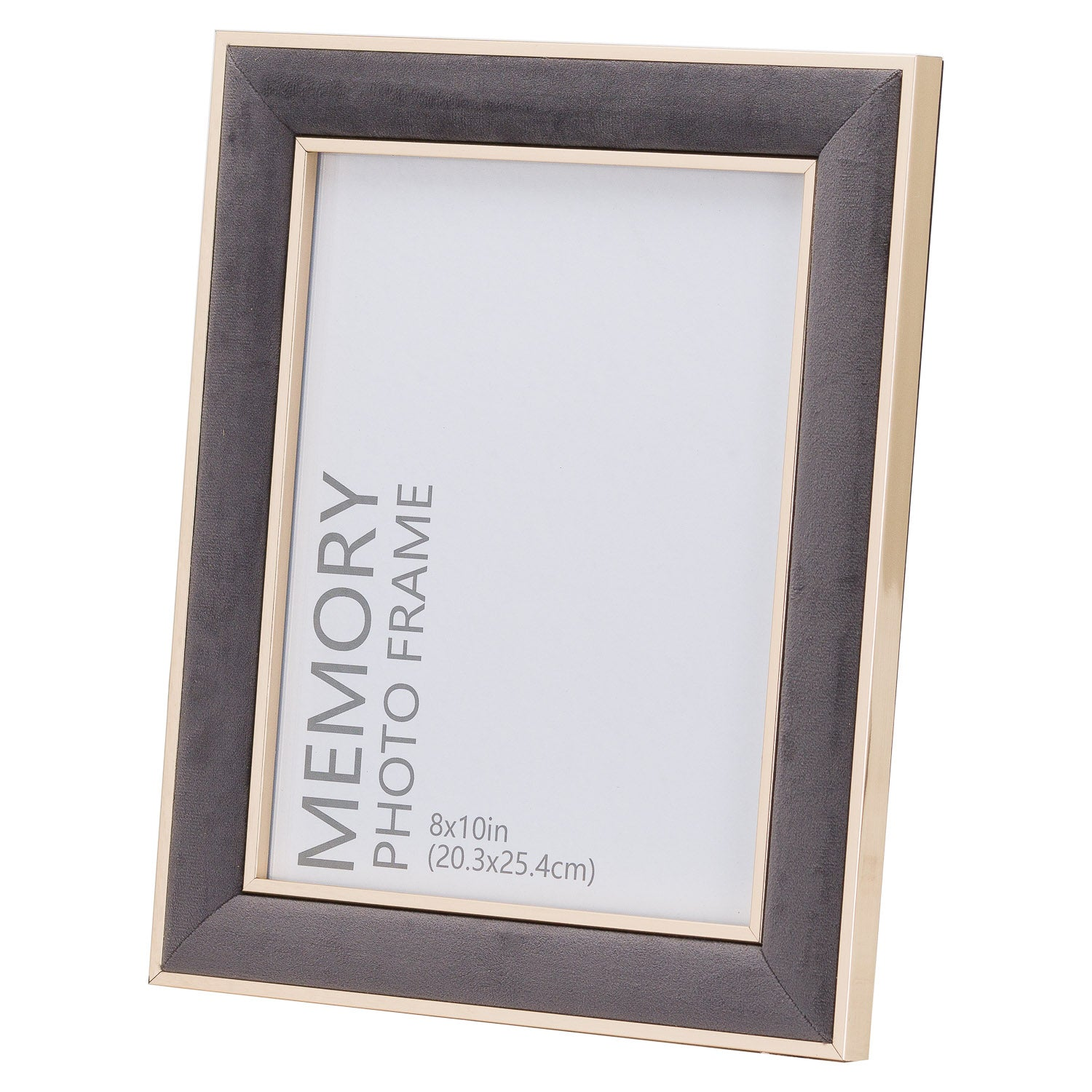Grey Velvet With Gold 8X10 Frame
