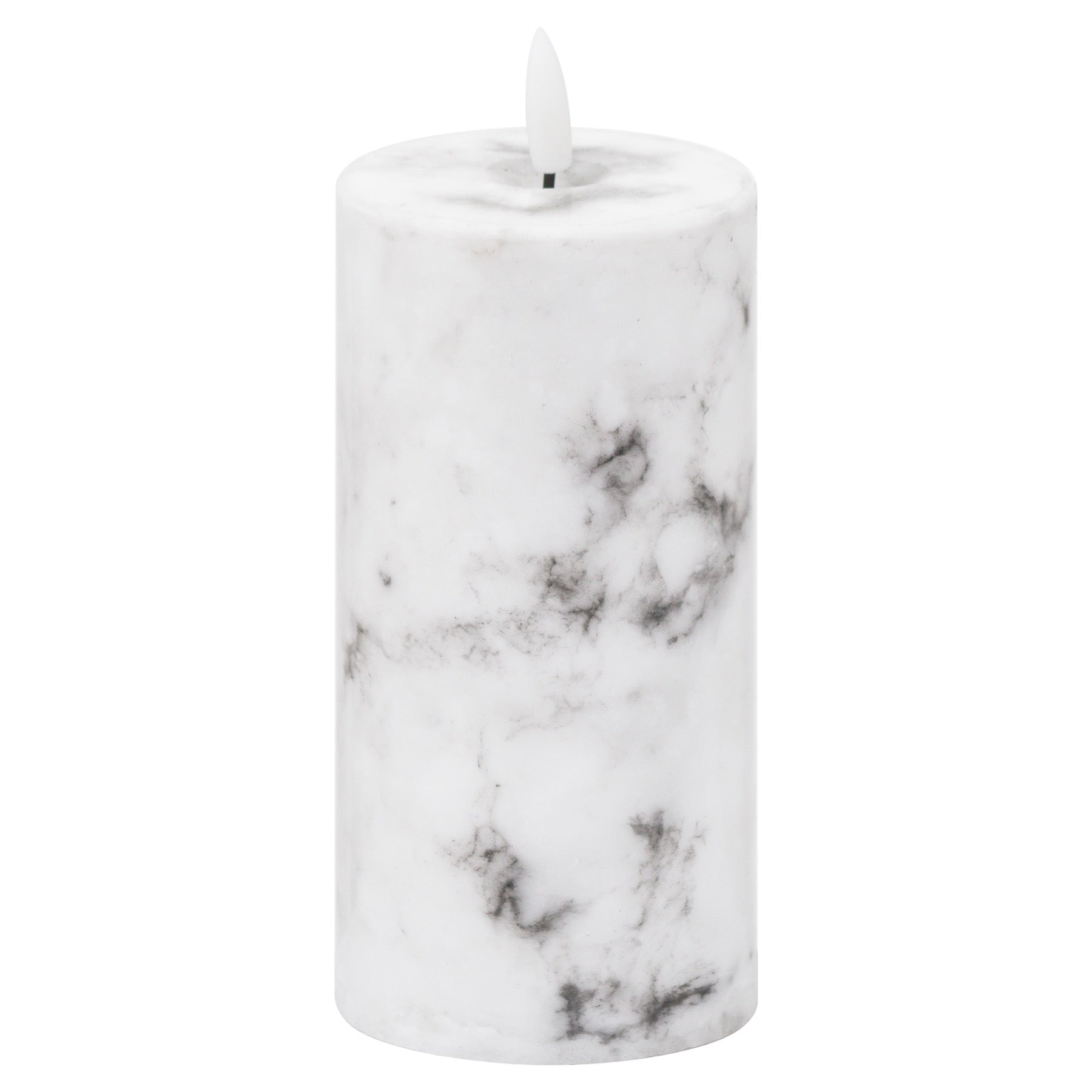 Luxe Collection Natural Glow 3x6 Marble Effect LED Candle