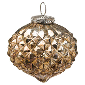The Noel Collection Burnished  Textured Large Hanging Bauble