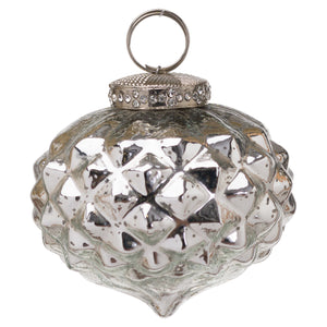 The Noel Collection Mercury Textured Small Hanging Bauble