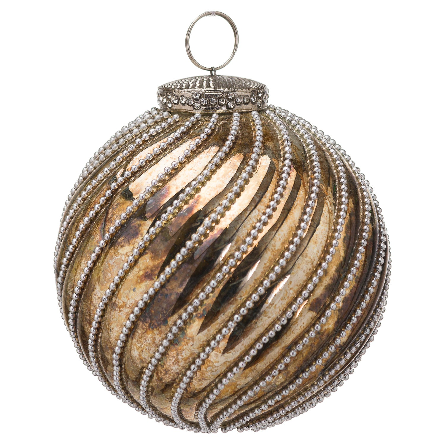 The Noel Collection Burnished Jewel Swirl Small Bauble