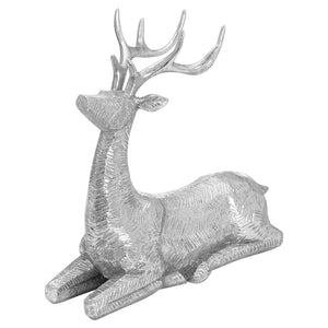 Decortive Wood Effect Sitting Deer
