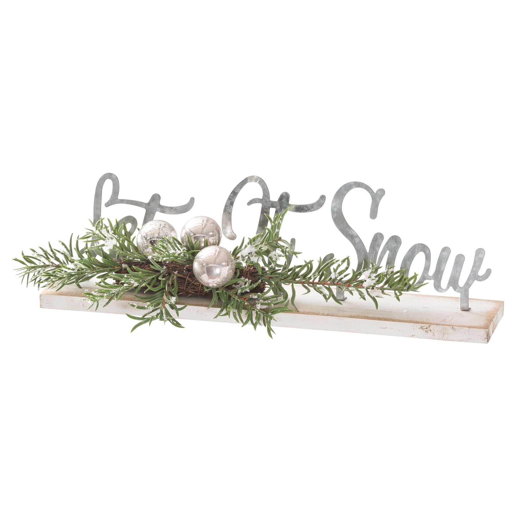 The Noel Collection Let It Snow Table Sitting Sign