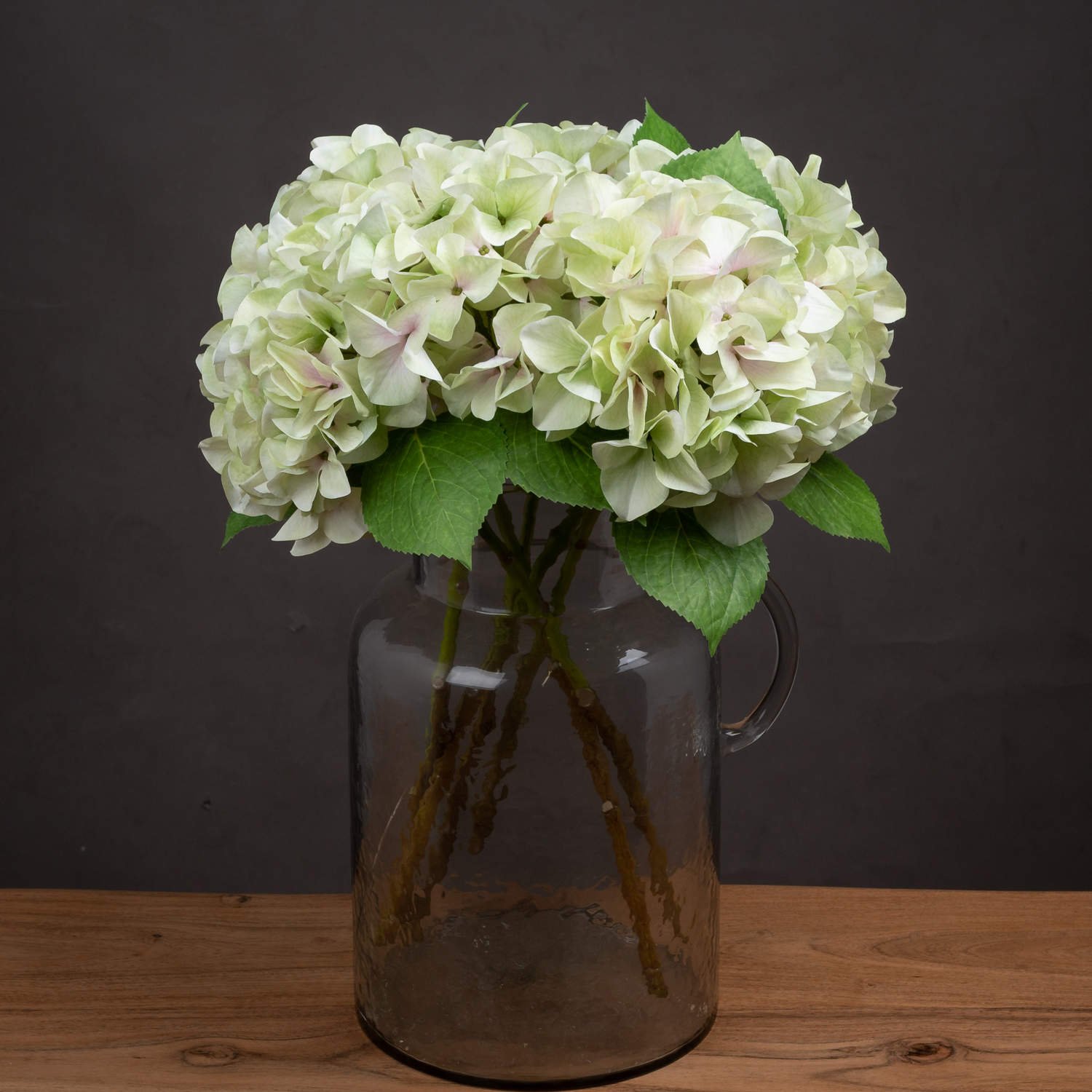 Shabby Green Single Hydrangea