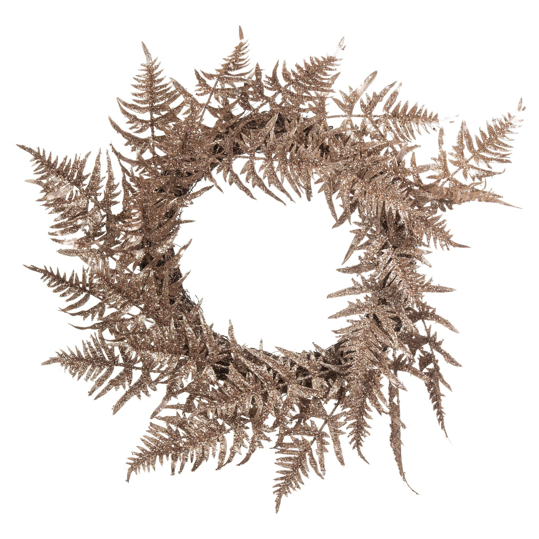 Antique Silver Faux Fern Wreath