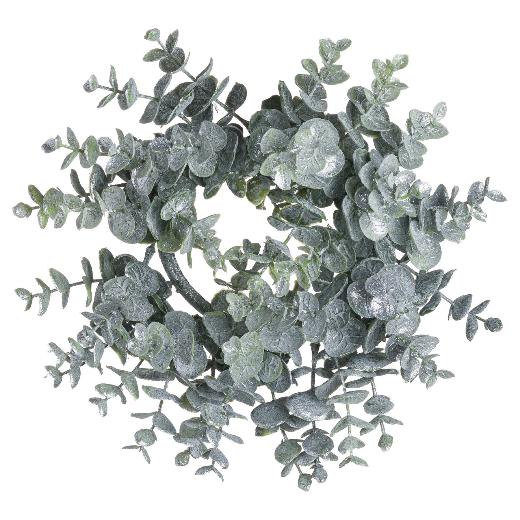 Medium Frosted Eucalyptus Candle Wreath