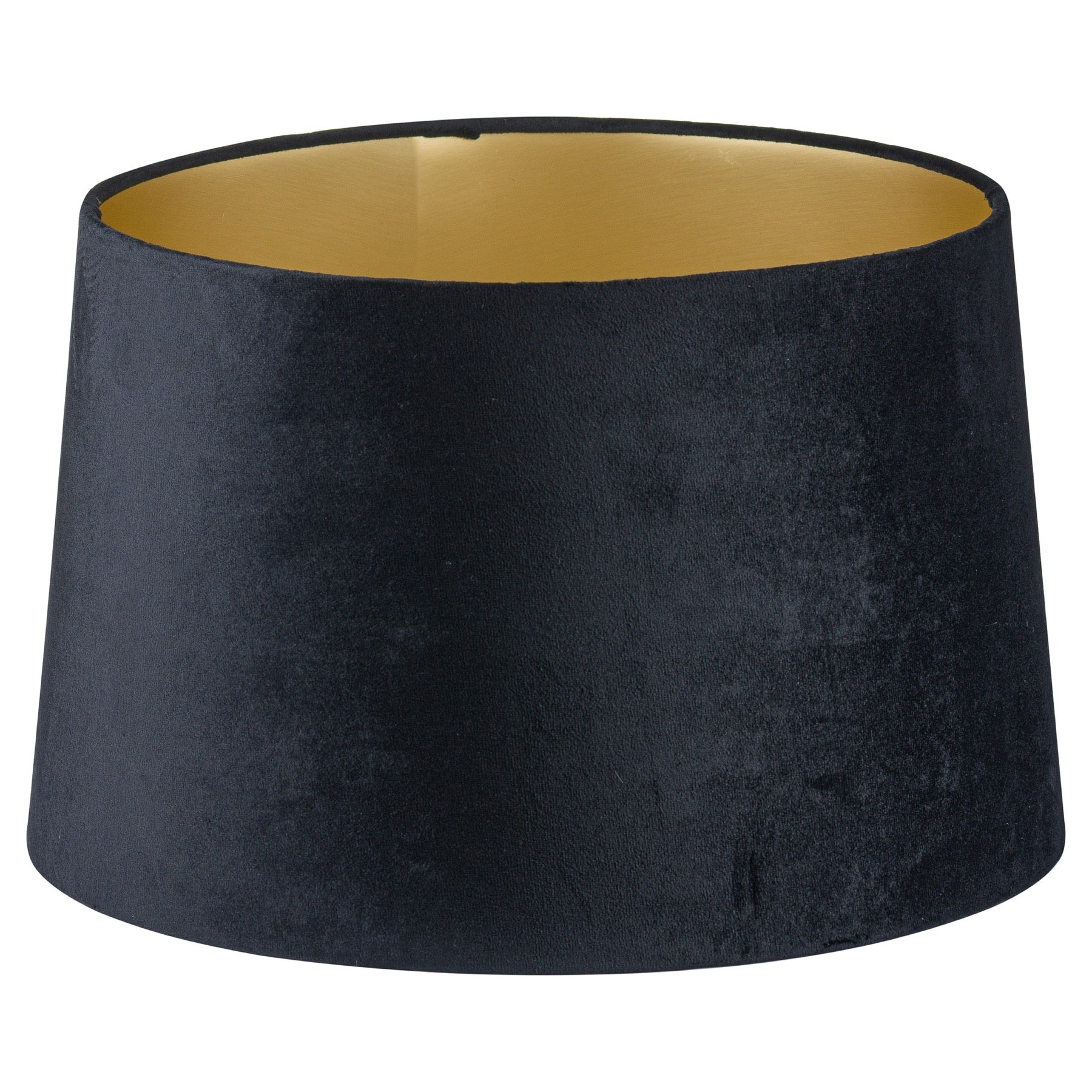 Black Velvet Lamp And Ceiling Shade With Gold Lining