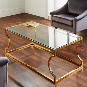 Rome Gold & Silver Coffee Table