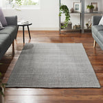 Load image into Gallery viewer, Handwoven Light Grey Jute Rug