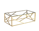Load image into Gallery viewer, Geometric Gold Plated & Silver Coffee Table