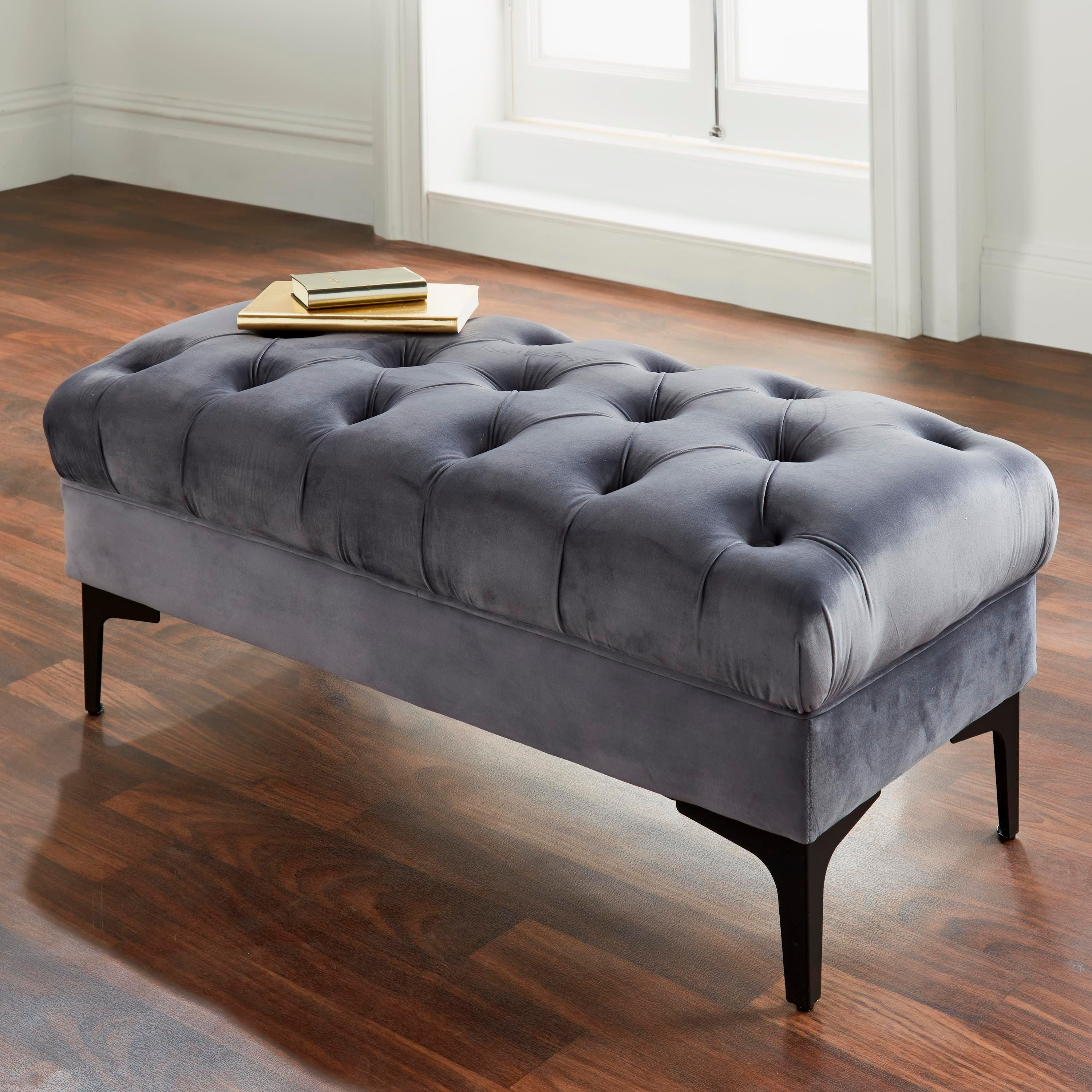 Button Bench Grey