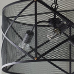 Load image into Gallery viewer, Industrial Mesh Cage Black Ceiling Pendant