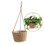 Load image into Gallery viewer, Woven Jute Basket Hanging Planter