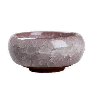 Ice Crack Glaze Ceramic Flowerpot (1Pcs)