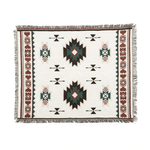 Load image into Gallery viewer, Aztec Style Cotton Throw Blanket