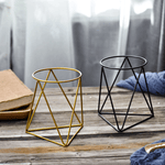 Load image into Gallery viewer, Modern Industrial Geometric Plant Pot & Holder Set