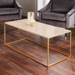 Load image into Gallery viewer, Gold Coffee Table Pale Pink