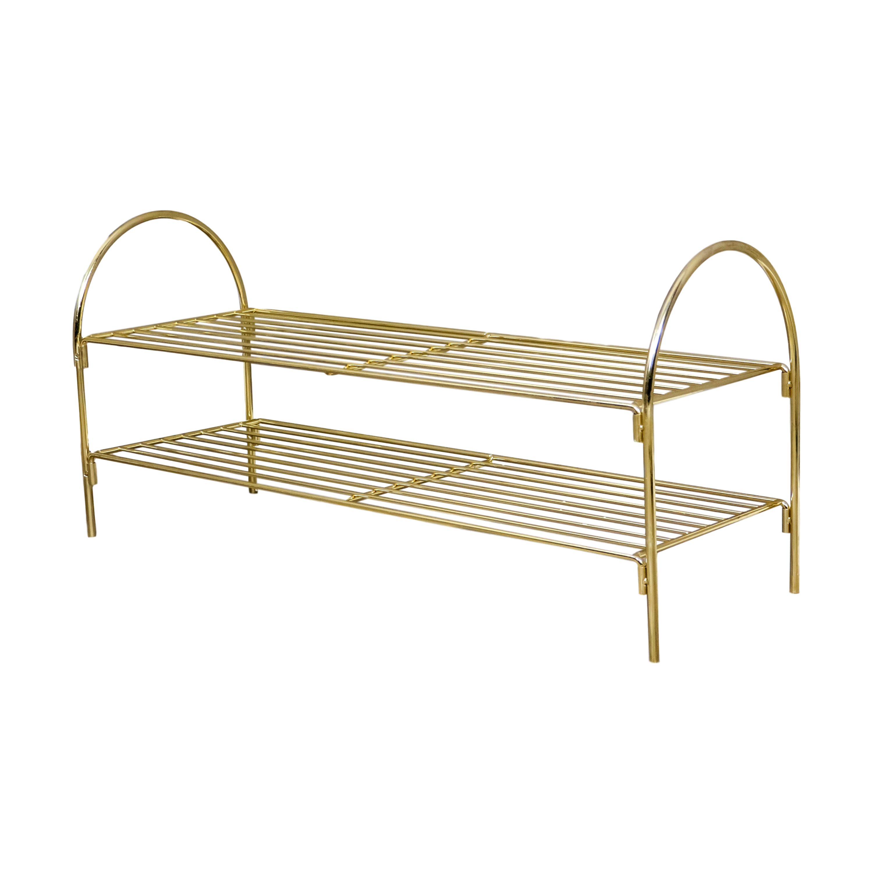 Gold Shoe Rack