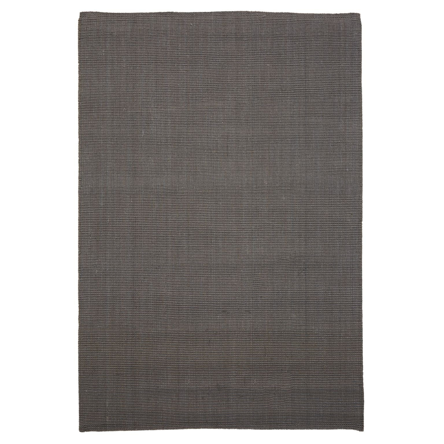 Handwoven Light Grey Jute Rug