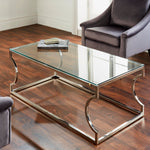 Load image into Gallery viewer, Rome Gold & Silver Coffee Table