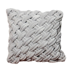 Load image into Gallery viewer, Grey Handknotted Velvet Cushion Cover
