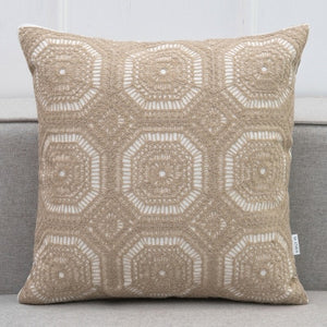 Embroidered Lace Pattern Cushion Covers