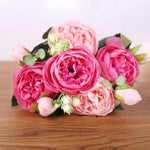 Load image into Gallery viewer, 'Bella' Silk Bouquet Peony Artificial Faux Flowers