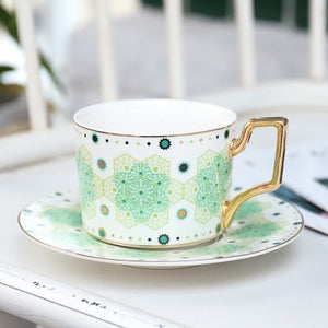 British 'Afternoon Tea' Coffee Cup and Saucer Set