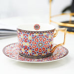 Load image into Gallery viewer, British 'Afternoon Tea' Coffee Cup and Saucer Set