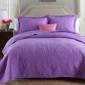 Soft Cotton Quilted 3 piece Bedspread