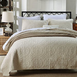 Load image into Gallery viewer, Soft Cotton Quilted 3 piece Bedspread
