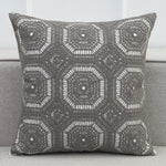 "Load image into Gallery viewer, Moroccan Embroidered Lace Floral Canvas Pillow Cover 18"" (45x45cm)"