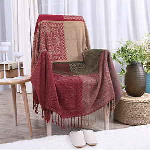Bohemian Clarence Stitching Throw Blanket