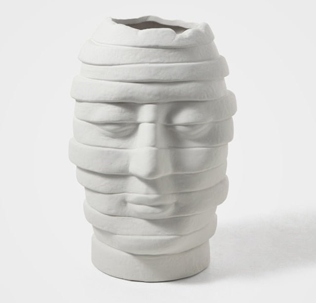 Abstract Face Art Vase