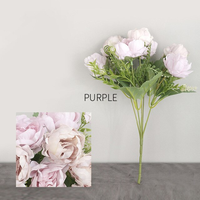 Peony Artificial Silk Flowers 6/7 Heads