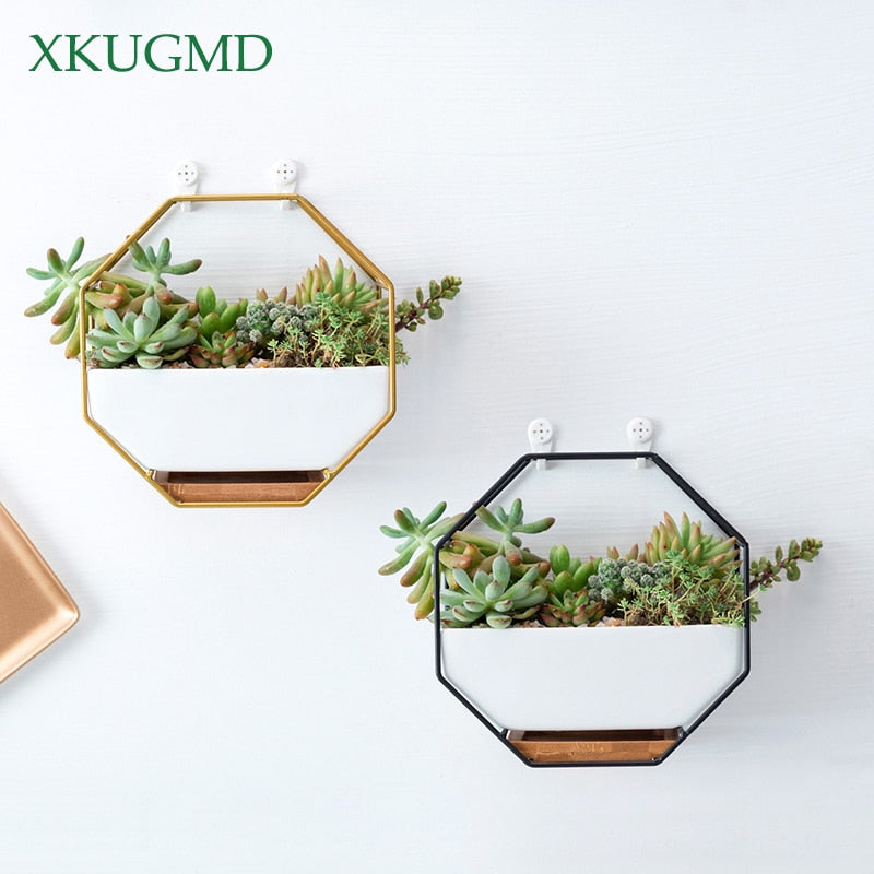 Octagonal Iron Ceramic Planter