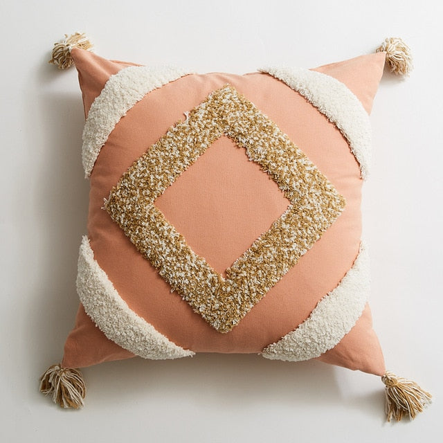 Handmade Geo Soft Tufted Cushion Covers