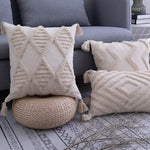 Load image into Gallery viewer, Neutral Moroccan Tufted Cushion Covers