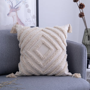 Neutral Moroccan Tufted Cushion Covers