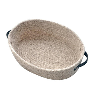 Desktop Woven Cotton Rope Storage Basket