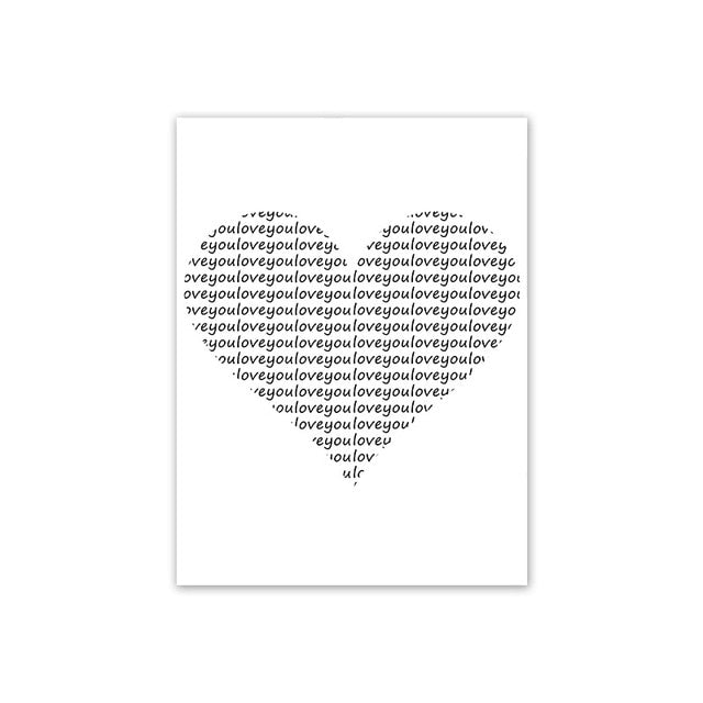 Amore Monochrome Black & White Poster