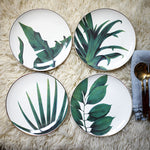 Load image into Gallery viewer, Rainforest Ceramic Handcraft Leaf Gold Platter (1pcs)