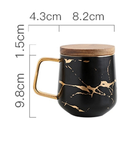 Aslesy Matte Luxury Cracked Water Coffee Tea Cups