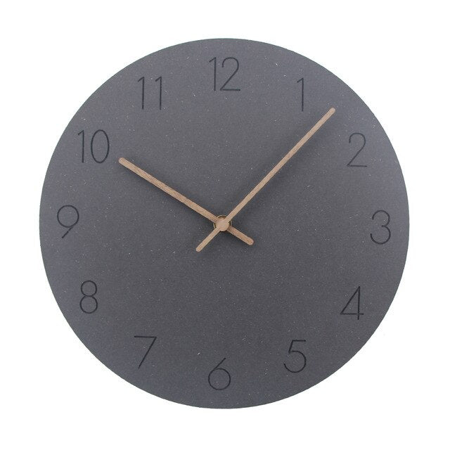 Oliver Vintage Nordic Minimalist Creative Wooden Wall Clock