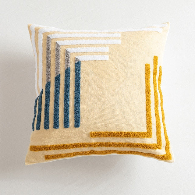 Camila Embroidered Geo Cushion Cover