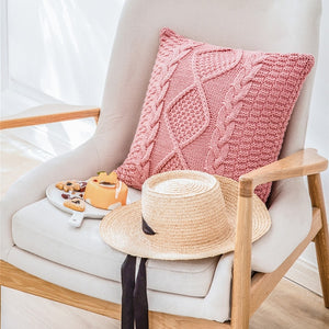 Regina Intricate Twist Knit Cushion