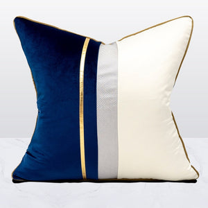 Avigers Velvet Leather Patchwork Cushion Covers