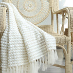 Load image into Gallery viewer, Sleepy Summer Knitted Throw Blanket