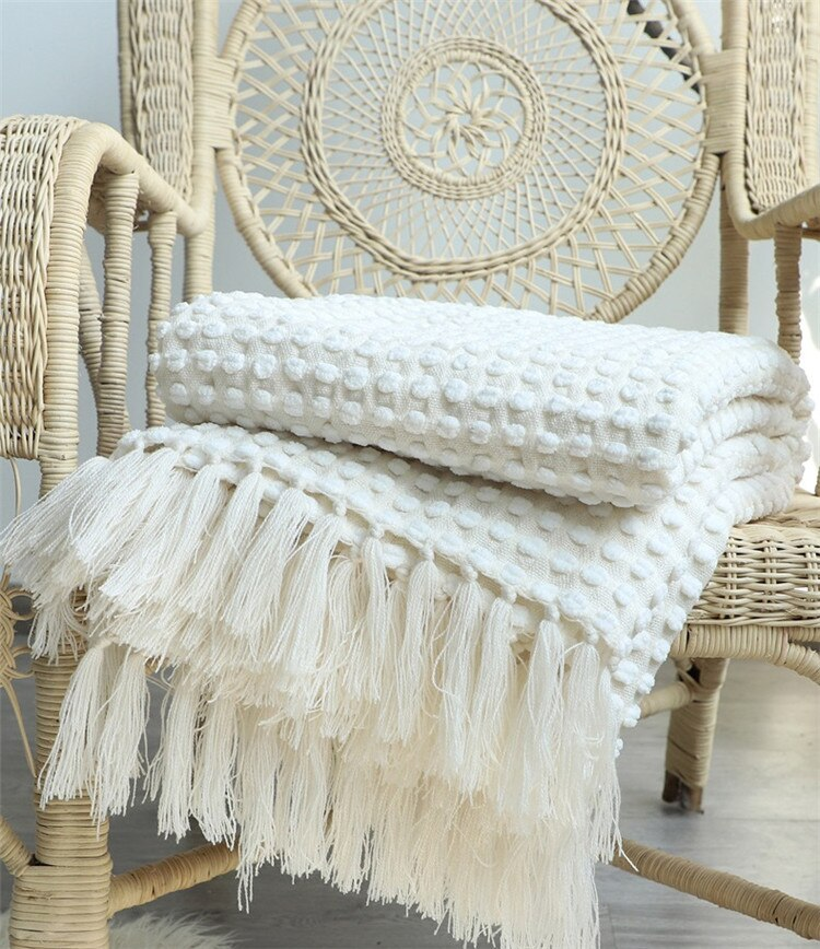 Sleepy Summer Knitted Throw Blanket