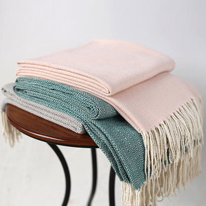 In the Pastels Herringbone Throw